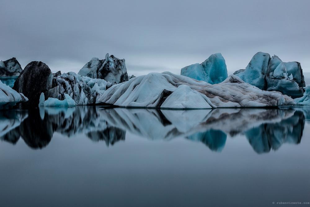 Iceberg at Jokulsarlon glacier lagoon. Iceland