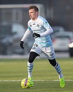 FODBOLD: Jonas Henriksen (FC Helsingør) under træningskampen mellem FC Helsingør og AB den 19. januar 2019 på Snekkersten Idrætscenter. Foto: Claus Birch