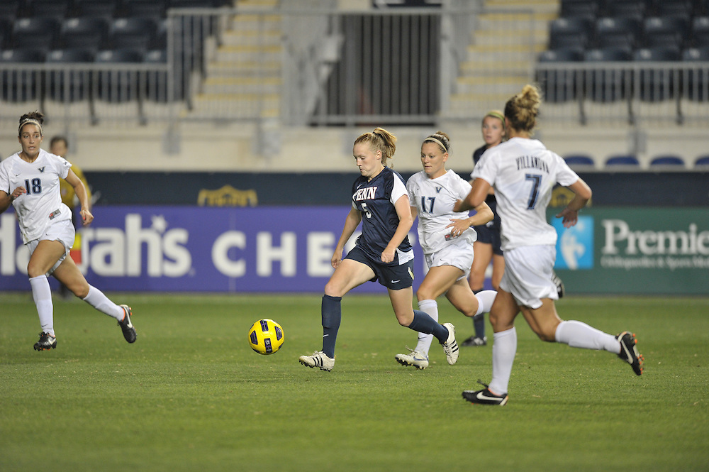 CHESTER, PA- SEPTEMBER 09: Penn defeats Villanova 1-0 the at PPL Park on September 9, 2011 in Chester, Pennsylvania. (Photo by Drew Hallowell)