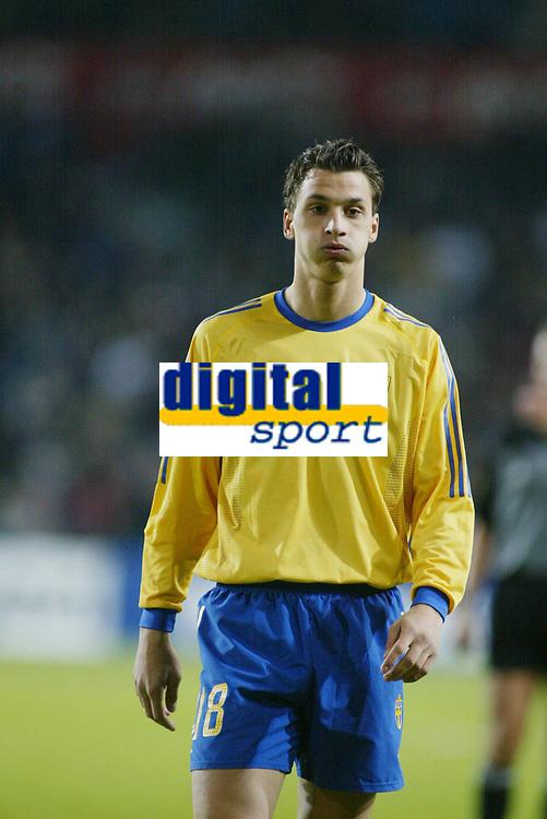 Fotball, 17. april 2002. Landskamp, Norge v Sverige 0-0.  Zlatan Ibrahimovic, Sverige.