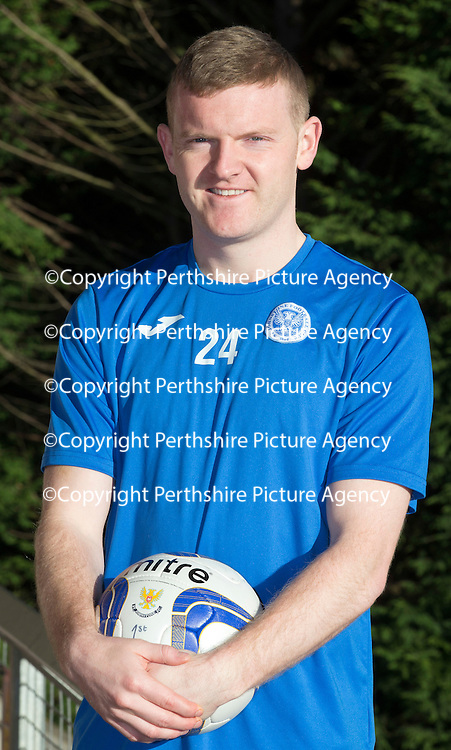 St Johnstone left back Brian Easton pictured at McDiarmid Park this morning ahead of Saturday's Scottish Cup tie at Queen of the South....05.02.15<br /> Picture by Graeme Hart.<br /> Copyright Perthshire Picture Agency<br /> Tel: 01738 623350  Mobile: 07990 594431