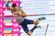 Tim Duckworth (Great Britain), Men's Pentathlon, Pole Vault, during the European Athletics Indoor Championships at Emirates Arena, Glasgow, United Kingdom on 3 March 2019.
