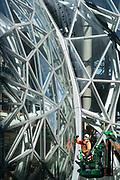 The finishing touches go on the Amazon HQ Bio-spheres, Seattle, Washington, USA 03/16/17