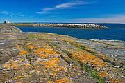 Rocky landscape on the Atlantic Ocean, Blue Rocks, Nova Scotia, Canada