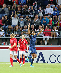 18.07.2013, Arena Linkoeping, Linkoeping, UEFA Damen Euro, Frankreich vs England, im Bild France 2 Wendie Renard m&OElig;lskytt scorer, Keywords: jubel gl&Scaron;dje lycka glad happy happiness // during UEFA Womens Euro Match between Franc and England at Arena Linkoeping, Sweden on 2013/07/18. EXPA Pictures &copy; 2013, PhotoCredit: EXPA/ PicAgency Skycam/ Ted Malm<br /> <br /> ***** ATTENTION - OUT OF SWE *****