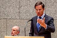 DEN HAAG - Premier Mark Rutte  en Minister Stef Blok van Buitenlandse Zaken in de Tweede Kamer voor het wekelijkse vragenuurtje. ROBIN UTRECHT