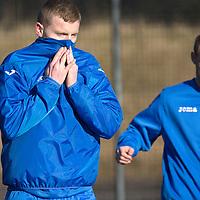 St Johnstone Training....05.02.15<br /> Brian Easton pictured training at McDiarmid Park this morning ahead of Saturday's Scottish Cup tie at Queen of the South.<br /> Picture by Graeme Hart.<br /> Copyright Perthshire Picture Agency<br /> Tel: 01738 623350  Mobile: 07990 594431