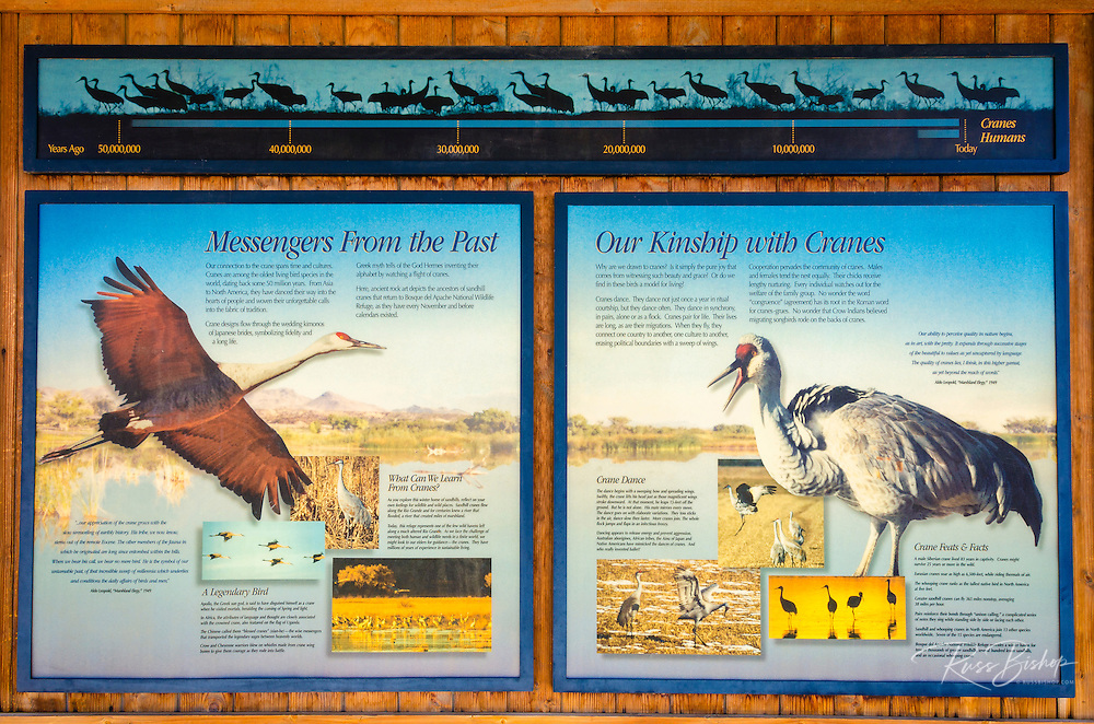 Interpretive display at Bosque del Apache National Wildlife Refuge, New Mexico USA