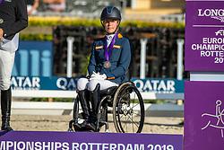 Bronze medal, Individual Grade II, Den Dulk Nicole, NED<br /> European Championship Para Dressage<br /> Rotterdam 2019<br /> © Hippo Foto - Dirk Caremans