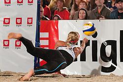 Simona Fabjan at Zavarovalnica Triglav Beach Volley Open as tournament for Slovenian national championship on July 30, 2011, in Kranj, Slovenia. (Photo by Matic Klansek Velej / Sportida)