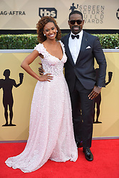 January 20, 2018 - Los Angeles, California, U.S. - RYAN BATHE AND STERLING K BROWN during red carpet arrivals for the 24th Annual Screen Actors Guild Awards, held at The Shrine Expo Hall. (Credit Image: © Kevin Sullivan via ZUMA Wire)