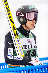 February 8, 2019 - Lahti, Finland - Akito Watabe competes during Nordic Combined, PCR/Qualification at Lahti Ski Games in Lahti, Finland on 8 February 2019. (Credit Image: © Antti Yrjonen/NurPhoto via ZUMA Press)