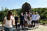 Young visitors pose for a photo in front of the Aaronic Priesthood Restoration Monument at the Church of Jesus Christ of Latter Day Saints Priesthood Restoration Site in Susquehanna, PA, Thursday, July 21, 2016. The site, which was errected and opened in 2015 and has seen 25,000 visitors to date, and is where Joseph Smith translated the Book of Mormon.<br /> CREDIT: Heather Ainsworth for The Wall Street Journal