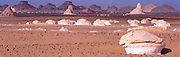 White Desert formations in dry lake bed