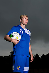 Danny Greenslade poses for a portrait as Bristol Rovers return to training ahead of their 2015/16 Sky Bet League Two campaign - Photo mandatory by-line: Dougie Allward/JMP - 07966 386802 - 02/07/2015 - SPORT - Football - Bristol, England - The Lawns Training Ground, Henbury - Sky Bet League Two.