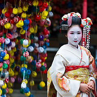 Kyoto, OCT  22: a participant on The Jidai Matsuri ( Festival of the Ages) held on October 22 2009  in Kyoto, Japan . It is one of Kyoto's renowned three great festiva
