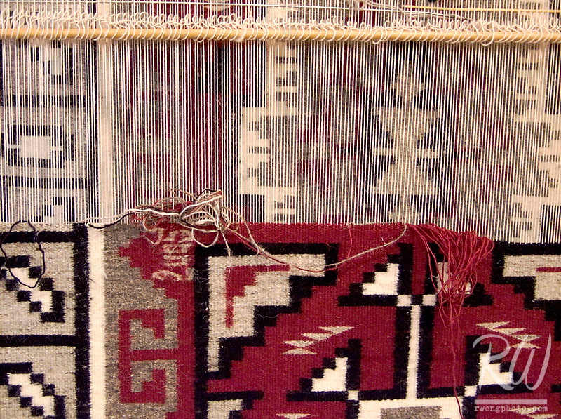 Traditional Navajo Rug Made by Mary Begay, Hubbell Trading Post National Historical Site, Ganado, Arizona