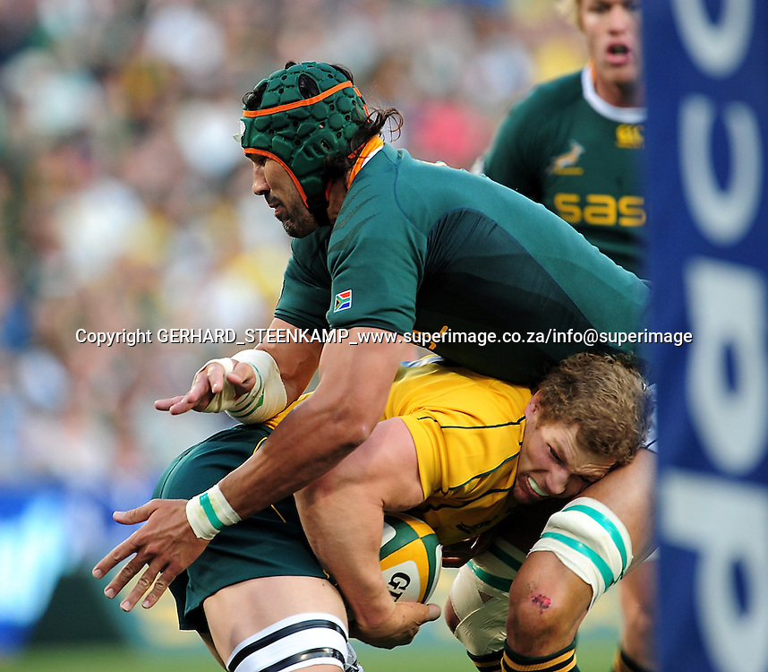 David Pocock during the Tri Nations Rugby Football match between the Springboks and Australia at the Freestate Stadion in Bloemfontein on 4 September 2010, South Africa.