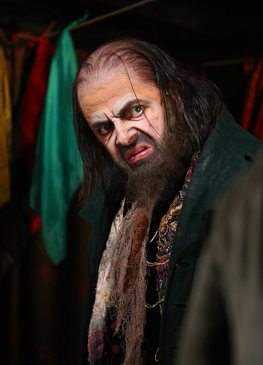 Rowan Atkinson as Fagan in Oliver Twist at the Theatre Royal in  London.