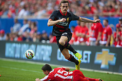 CHICAGO, USA - Sunday, July 27, 2014: Liverpool's Jack Robinson in action against Olympiacos during the International Champions Cup Group B match at the Soldier Field Stadium on day seven of the club's USA Tour. (Pic by David Rawcliffe/Propaganda)