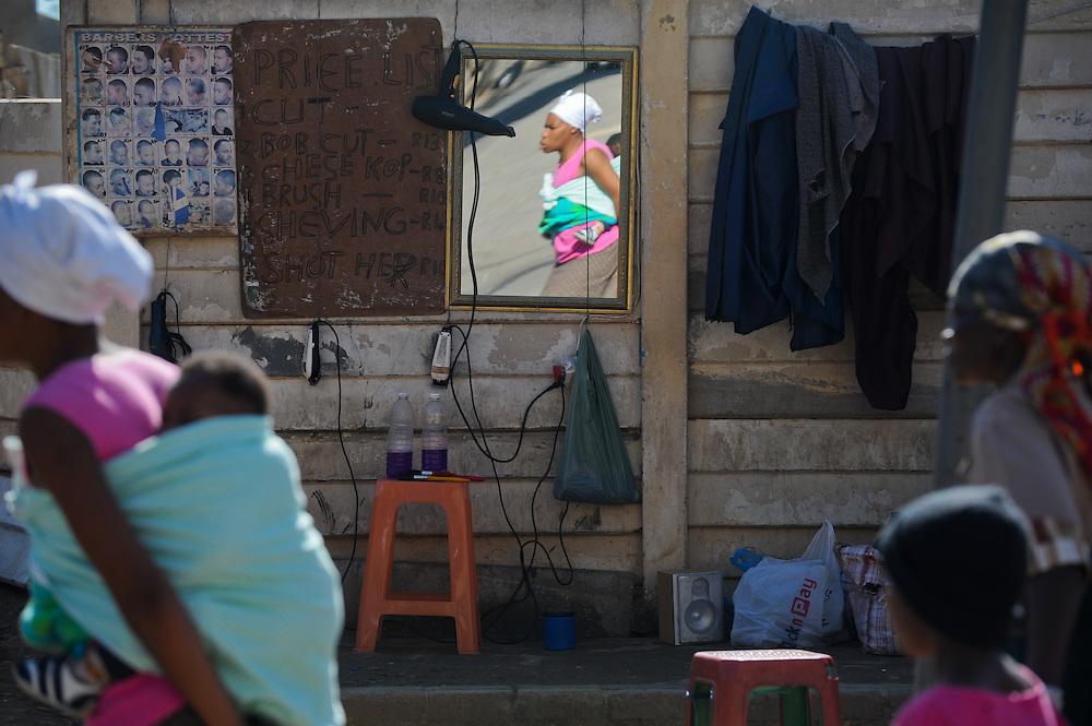 Monday, June 7, 2010 in the Alexandra township of Johannesburg, South Africa. Photo by Bahram Mark Sobhani