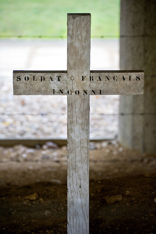The Memorial at the Trench of the Bayonets (Tranchée des Baïonnettes) where a unit of French soldiers were buried alive with the bayonets sticking out during the 300 day battle of Verdun. Verdun, Lorraine, France