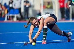 Surbiton's Giselle Ansley. University of Birmingham v Surbiton - Semi-Final - Investec Women's Hockey League Finals, Lee Valley Hockey & Tennis Centre, London, UK on 22 April 2017. Photo: Simon Parker
