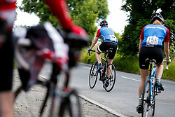 Cyclists reach the top of Bannerdown Hill as they take part in Break The Cycle, a 111 mile charity bike ride organised by the Bristol Rugby and Gloucester Rugby Community Foundations - Mandatory byline: Rogan Thomson/JMP - 03/07/2016 - CYCLING - Bannerdown Road - Bath, England - Break The Cycle Challenge 2016.