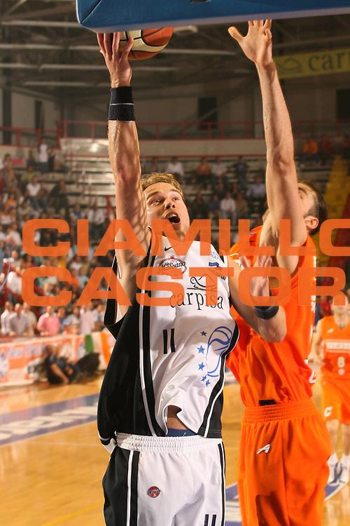 DESCRIZIONE : Napoli Lega A1 2005-06 Play Off Quarti Finale Gara 1 Carpisa Napoli Snaidero Udine <br /> GIOCATORE : Stefansson <br /> SQUADRA : Carpisa Napoli <br /> EVENTO : Campionato Lega A1 2005-2006 Play Off Quarti Finale Gara 1 <br /> GARA : Carpisa Napoli Snaidero Udine <br /> DATA : 18/05/2006 <br /> CATEGORIA : Tiro <br /> SPORT : Pallacanestro <br /> AUTORE : Agenzia Ciamillo-Castoria/G.Ciamillo <br /> Galleria : Lega Basket A1 2005-2006 <br /> Fotonotizia : Napoli Lega A1 2005-06 Play Off Quarti Finale Gara 1 Carpisa Napoli Snaidero Udine<br /> Predefinita :