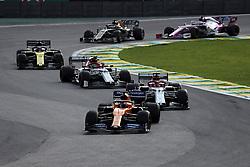 November 17, 2019, Sao Paulo, Brazil: xa9; Photo4 / LaPresse.17/11/2019 Sao Paulo, Brazil.Sport .Grand Prix Formula One Brazil 2019.In the pic: Carlos Sainz Jr (ESP) Mclaren F1 Team MCL34, Kimi Raikkonen (FIN) Alfa Romeo Racing C38, Antonio Giovinazzi (ITA) Alfa Romeo Racing C38 , Daniel Ricciardo (AUS) Renault Sport F1 Team RS19 (Credit Image: © Photo4/Lapresse via ZUMA Press)