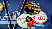 COLUMBIA, SC - DECEMBER 9: A supporter shows her   support for Oprah for vice president before the start of a campaign rally with talk show host Oprah Winfrey and Democratic presidential hopeful Sen. Barack Obama (D-IL) December 9, 2007 in Columbia, South Carolina. Obama and Winfrey are scheduled to make one more stop in New Hampshire today. (Photo by Stephen Morton/Getty Images)