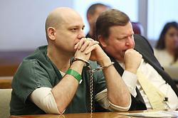 December 17, 2018 - Wichita, KS, USA - Steven Bodine listens as Judge Steve Ternes sentences him to life in prison for the killing of 3-year-old Evan Brewer. (Credit Image: © Bo Rader/Wichita Eagle/TNS via ZUMA Wire)