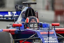 March 1, 2017 - Montmelo, Catalonia, Spain - DANIIL KVYAT (RUS) takes to the track during day 3 of Formula One testing at Circuit de Catalunya (Credit Image: © Matthias Oesterle via ZUMA Wire)