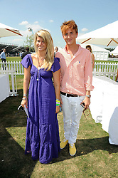 AMELIA BAMBERGER and FRANCIS BOULL at the Cartier International Polo at Guards Polo Club, Windsor Great Park on 27th July 2008.<br /> <br /> NON EXCLUSIVE - WORLD RIGHTS