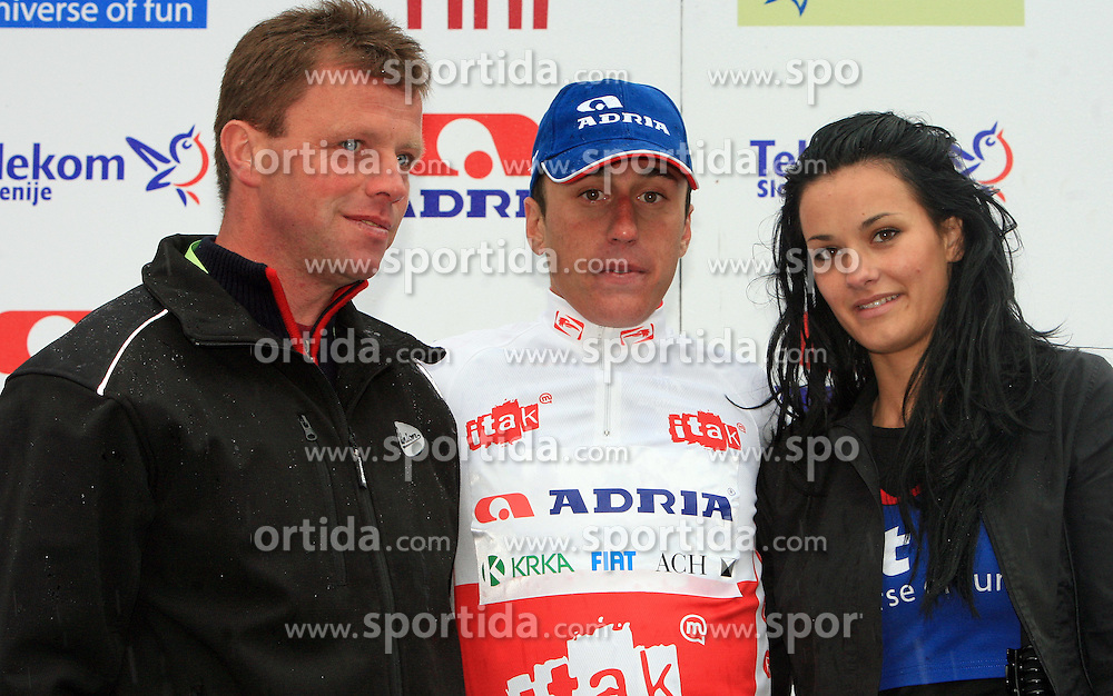 Robert Kiserlovski of Croatia (Adria Mobil) placed third and was the best young rider at 3rd stage of the 15th Tour de Slovenie from Skofja Loka to Krvavec (129,5 km) , on June 13,2008, Slovenia. (Photo by Vid Ponikvar / Sportal Images)/ Sportida)