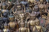 Small buddhistic figures at Swayambhunath Stupa, Kathmandu.