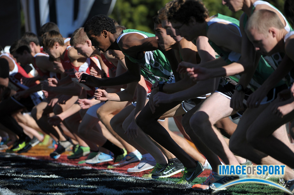 Dec 10, 2011; San Diego, CA, USA; General view of the start of the boys race in the 2011 Foot Locker cross country championships at Morley Field.