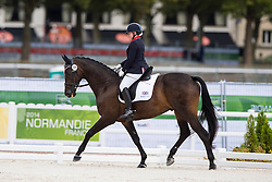 Natasha Baker, (GBR), Cabral - Individual Test Grade II Para Dressage - Alltech FEI World Equestrian Games™ 2014 - Normandy, France.<br /> © Hippo Foto Team - Jon Stroud <br /> 25/06/14