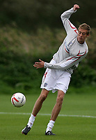 Photo: Paul Thomas.<br /> England Training. 06/10/2006.<br /> <br /> Peter Crouch.