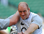 Twickenham, GREAT BRITAIN, A focused, Lawrence DALLAGLIO, during the pre game training session,  the Investic Rugby match between, England and Wales, at Twickenham Rugby  Ground, England Sat. 04.07.2007  [Photo, Peter Spurrier/Intersport-images].....