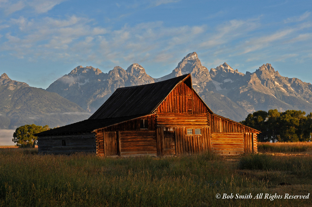 Molson Barn at sunrise, Grand Teton National Park,  WY 20080808