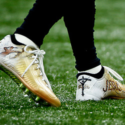 Dec 4, 2016; New Orleans, LA, USA; New Orleans Saints wide receiver Brandin Cooks (10) warms up in custom cleats before a game against the Detroit Lions at the Mercedes-Benz Superdome. Mandatory Credit: Derick E. Hingle-USA TODAY Sports