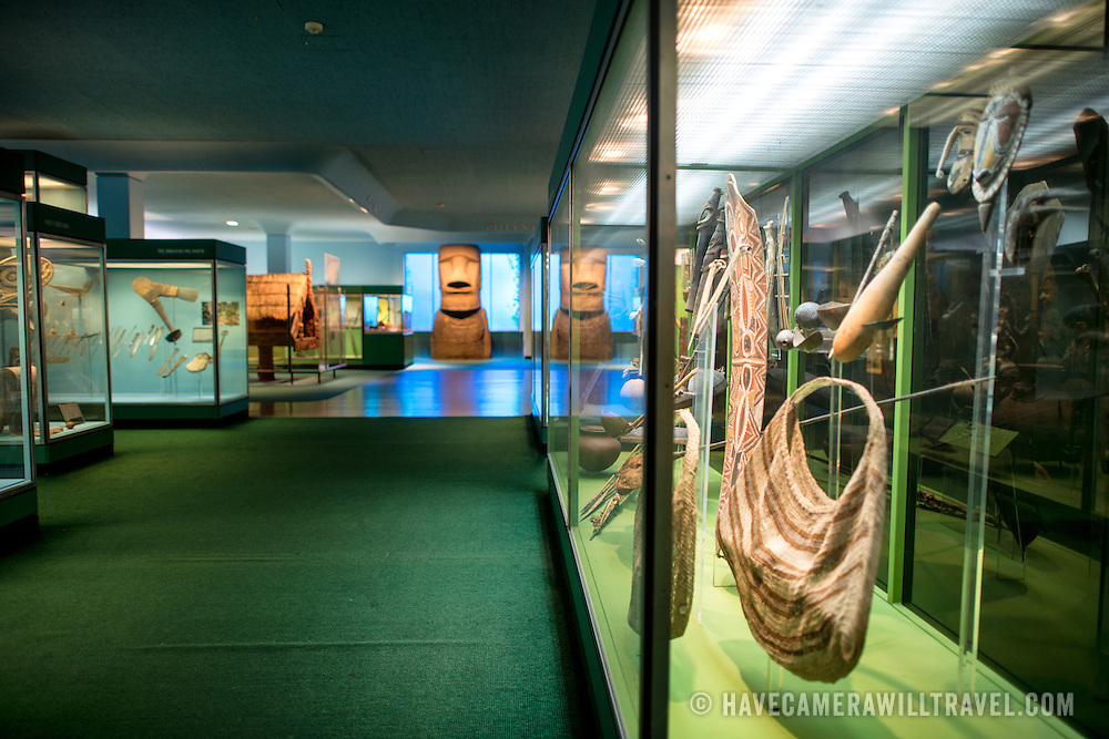 Pacific cultures exhibit at the Museum of Natural History in New York's Upper West Side neighborhood, adjacent to Central Park.