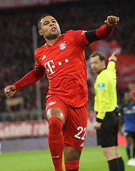 21.02.2020, Allianz Arena, Muenchen, GER, 1. FBL, FC Bayern Muenchen vs SC Paderborn 07, 23. Runde, im Bild Gnabry Jubel nach 1:0 // during the German Bundesliga 23th round match between FC Bayern Muenchen and SC Paderborn 07 at the Allianz Arena in Muenchen, Germany on 2020/02/21. EXPA Pictures © 2020, PhotoCredit: EXPA/ SM<br /> <br /> *****ATTENTION - OUT of GER*****