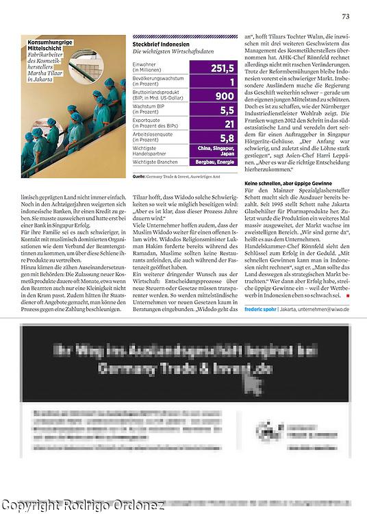 2015 10 09 Tearsheet WirtschaftsWoche SMEs in Indonesia print Martha Tilaar