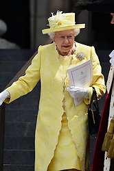 © Licensed to London News Pictures. 10/06/2016. Guests including HRH QUEEN ELIZABETH II, THE DUKE OF EDINBURGH, PRINCE HARRY, DUKE OF CAMBRIDGE, DUCHESS OF CAMBRIDGE, THE PRICE OF WALES and CAMILLA, DUCHESS OF CORNWALL attend The National Service of Thanksgiving to mark the 90th Birthday of Queen Elizabeth II at St Paul's Cathedral. London, UK. Photo credit: Ray Tang/LNP