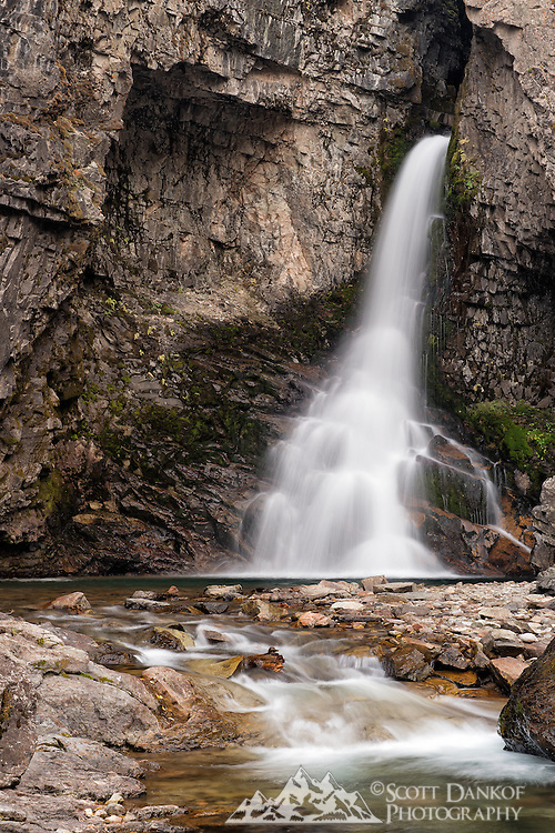 Beautiful Whitmore Falls is located along the Alpine Loop between Lake City and Engineer Pass.