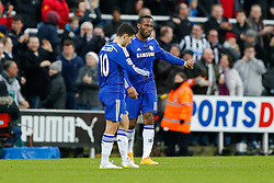 Didier Drogba of Chelsea and Eden Hazard look dejected after Newcastle win 2-1 to inflict a first defeat in all competitions this season on Chelsea - Photo mandatory by-line: Rogan Thomson/JMP - 07966 386802 -06/12/2014 - SPORT - FOOTBALL - Newcastle, England - St James' Park - Newcastle United v Chelsea - Barclays Premier League.