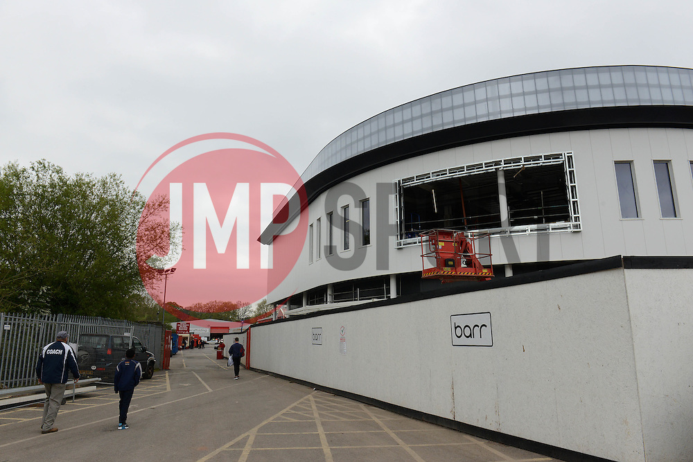 Ashton Gate redevelopment - Photo mandatory by-line: Dougie Allward/JMP - Mobile: 07966 386802 - 02/05/2015 - SPORT - Rugby - Bristol - Ashton Gate - Bristol Rugby v Rotherham Titans - Greene King IPA Championship