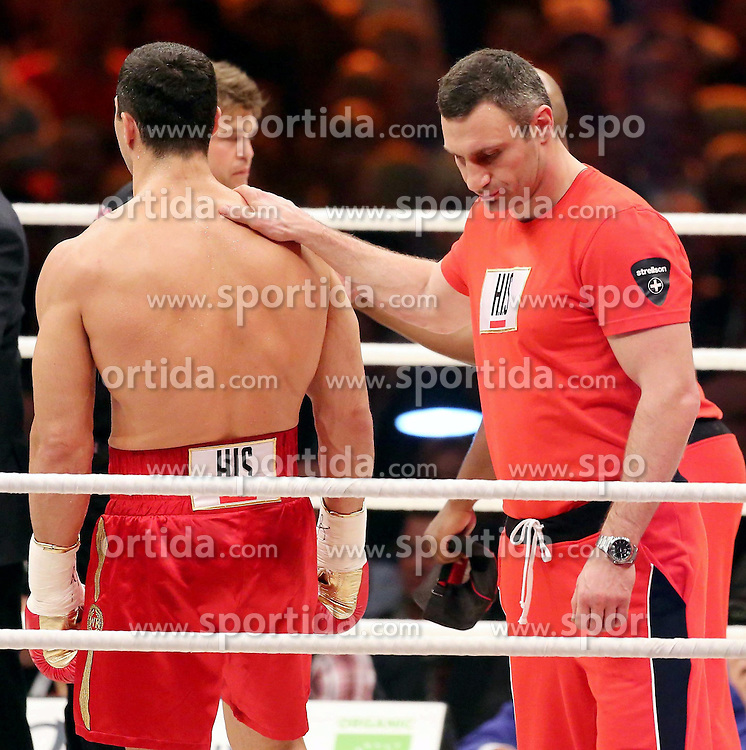 04.05.2013, SAP Arena, Mannheim, GER, WBO, IBF und WBA Schwergewichts WM-Kampf, Wladimir Klitschko vs Francesco Pianeta, im Bild Wladimir Klitschko gewinnt den Kampf gegen Francesco Pianeta mit einem KO-Sieg // during the WBO, IBF and WBA Heavyweight World Championship fight between Wladimir Klitschko and Francesco Pianeta at the SAP Arena, Mannheim, Germany on 2013/05/04. EXPA Pictures © 2013, PhotoCredit: EXPA/ Eibner/ Neurohr..***** ATTENTION - OUT OF GER *****